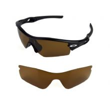 NEW POLARIZED BRONZE REPLACEMENT LENS FOR OAKLEY RADAR PATH SUNGLASSES